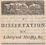 A dissertation on liberty and necessity pleasure and pain analysis